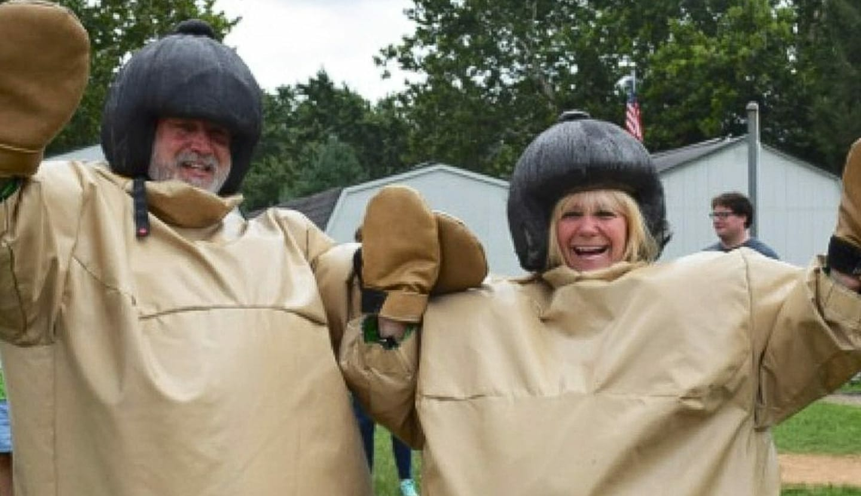 Dale & Howard Batterman in sumo suits
